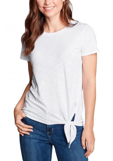 Gate Check Shirt - Kurzarm mit Knotendetail Damen