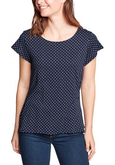 Gate Check Shirt - Kurzarm mit Rückendetail Damen