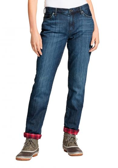 Boyfriend Jeans mit Flanellfutter